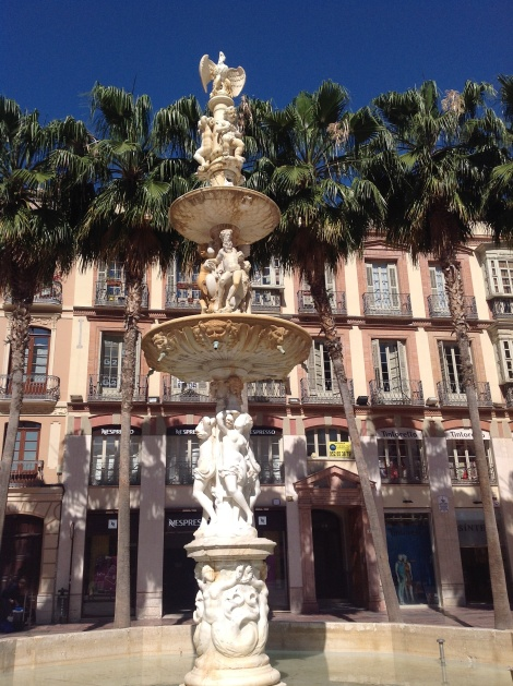 Genovese fountain in Málaga