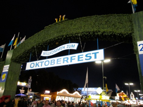 Entrance to the Oktoberfest...or one of them