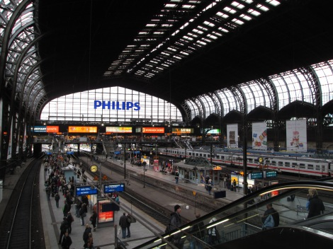 Upon arrival...the Hauptbahnhof in Hamburg
