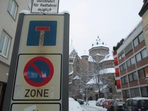 an earlier snow in Munich Lehel